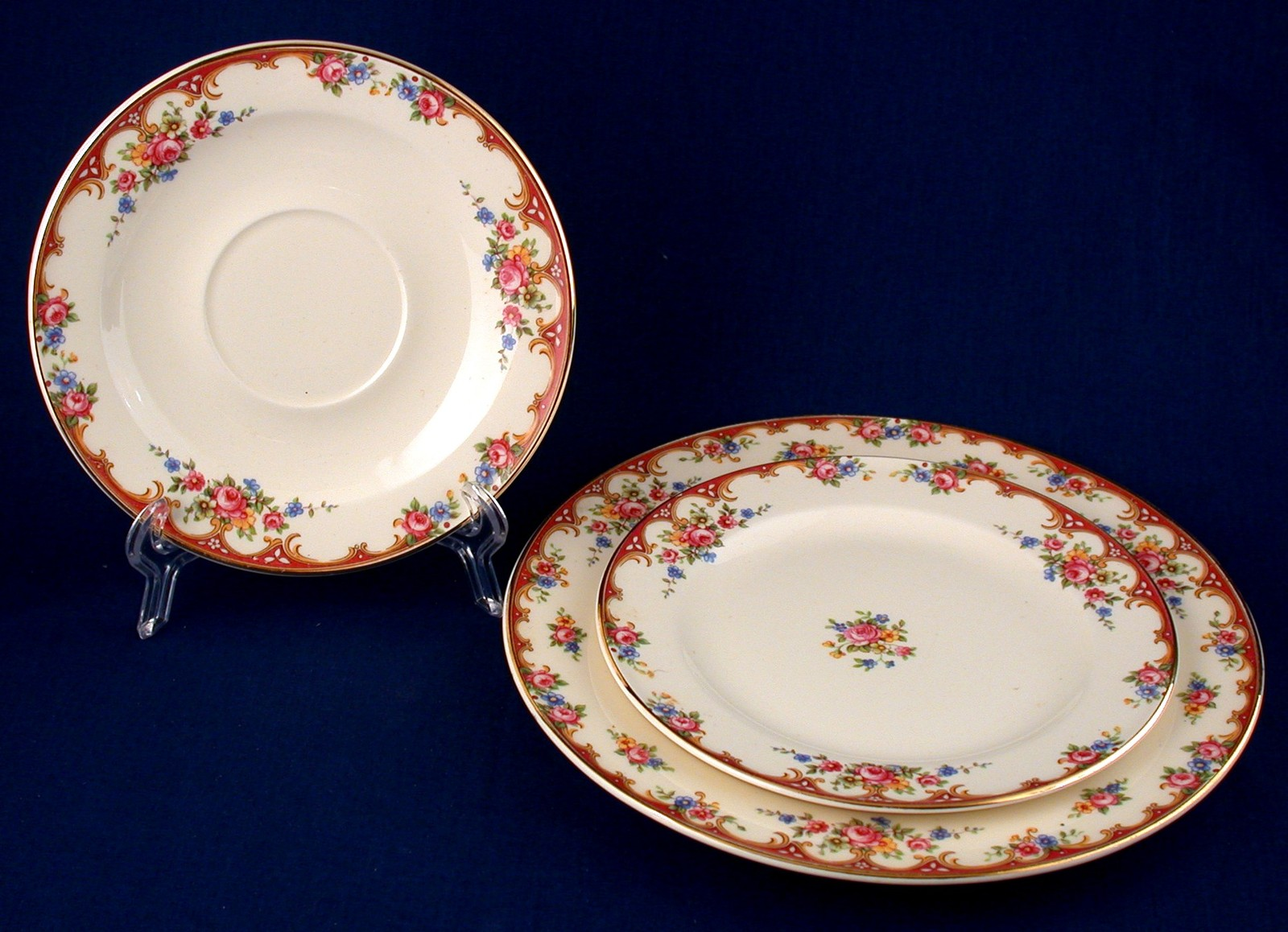 Edwin Knowles 3 -Pc Vintage 1938 Lunch Bread Plate Saucer Hostess Shape & Edwin Knowles 3 -Pc Vintage 1938 Lunch and 50 similar items