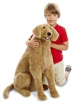Large Plush Dog Golden Retriever Lifelike Giant Stuffed Animal Soft Pet ... - $66.32