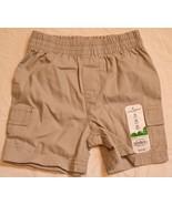 Jumping Beans Toddler Boys Khaki Tan Shorts Elastic Waist 12mo - $4.99