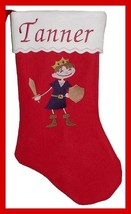 "17"" Personalized Embroidered Prince Felt Christmas Stocking - $12.95"