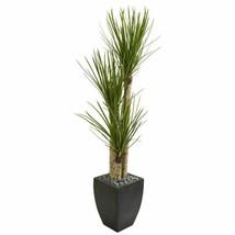 "Chic Multicolor 63"" Yucca Artificial Tree in Black Planter - 63"" - $365.56"