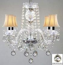 Chandelier Made with Swarovski Crystal! Murano Venetian Style All Crystal Chande - $190.11