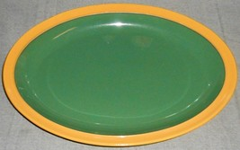 """Denby Classic SPICE PATTERN Green and Yellow 13 1/8"""" OVAL PLATTER England - £28.47 GBP"""