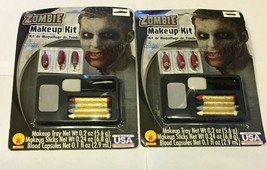 SET OF 2 NEW ZOMBIE MAKEUP TRAY KIT(HALLOWEEN), FREE SHIPPING - $14.85