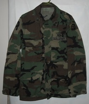 VTG US Army Airborne Woodland Camo BDU Jacket Sergeant & Airborne patche... - $25.00