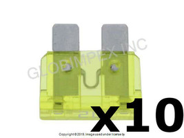 20 Amp Yellow Fuse - GM Type (ATO/ATC) Set of 10 BOSCH +1 YEAR WARRANTY - $12.85