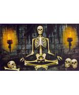 6-Ft. Sitting Chained Skeleton Prisoner Silhouette Halloween Wall Murale - $4.94