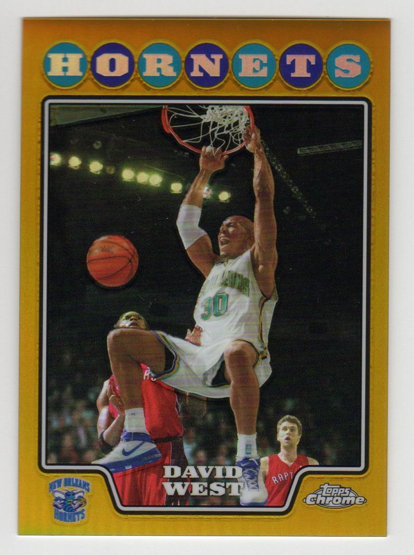 2008-09 Topps Chrome David West GOLD Refractor #3/50