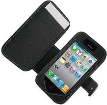 Monaco Book Type Black Leather Cover Case W/Detachable Belt Clip For At&... - $19.75
