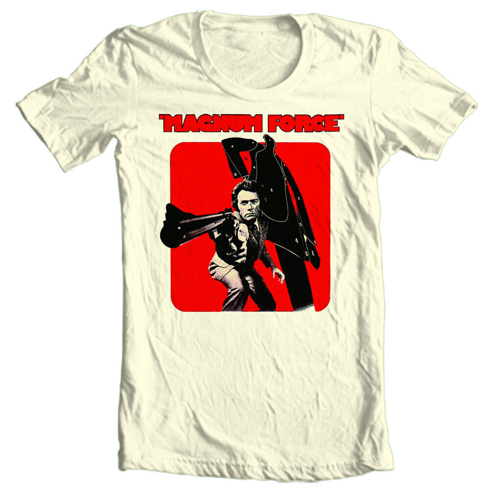 Magnum Force T-shirt Clint Eastwood classic 70s 80s movie 100% cotton tee