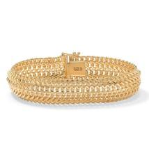 """Saduza-Link Bracelet in 18k Gold over Sterling Silver 7.25"""" - $199.99"""