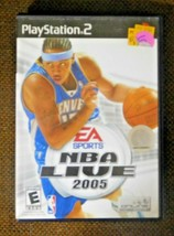 NBA Live 2005 (Sony PlayStation 2, 2004) Basketball Sports Video Game - $4.39