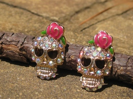 HAUNTED spell cast sugar SKULL earrings free with 50.00 purchase HOT HOT HOT - Freebie