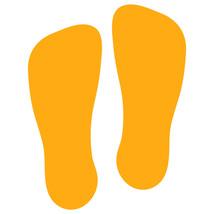 LiteMark Golden Yellow Flat-Toe Sockprint Decal Stickers - Pack of 12 - $19.95