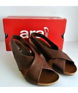 Neu! Ara Barcelona Riemen Holz Absatz Schuhe Eu 40,US 9 Braune Sandalen ... - $89.09