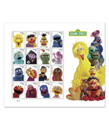 USPS Sesame Street 50 Years Sheet of 16 Forever Stamps. New. MNH. - $13.99
