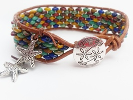 Chan Luu inspired Beaded Leather Wrap Bracelet ... - $24.00