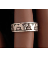 Sterling Mouse ring - Mickey wedding band - estate jewelry - birthday fo... - $55.00