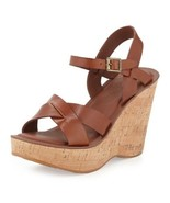 KORK-EASE Bette Cork Wedge Sandals sz 9 M  - $48.19
