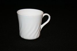 CORNING USA Enhancements Bright White Swirl Coffee Tea Shave Mug Replacement - $14.95