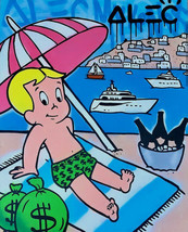 Alec Monopoly Oil Painting on Canvas graffiti art Richie Rich Mykonos 28... - $21.77+