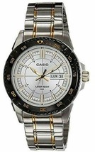 Casio MTD-1078SG-7AVDF Men's Stainless Steel Day Date Gold Silver Tone W... - $59.39