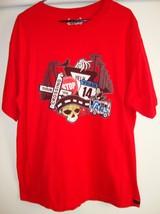 Red Vans Warped Tour 2008 XL Concert Tour T-Shirt, Skull & Van Logo, Cotton - $21.48