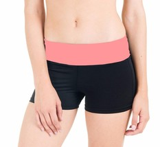 BRAND NEW FLEX WOMEN'S ATHLETIC SPORT WORK OUT GYM CARDIO SHORTS BLACK PINK 5505