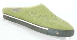 Keen 'Woodbine Trillium' green wool felt man made slip on clog shoes 6.5 37 - $31.47
