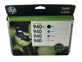 Genuine HP Officejet XL Black & Cyan Magneta Yellow Expired 2016 - $24.30