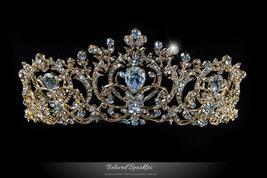 Lucia Victoria Statement Gold Tiara | Swarovski Crystal - $168.95