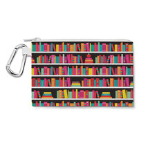 Library Book Case Canvas Zip Pouch - $15.99+