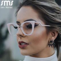 Ladies Optical Sexy Cat Eye Glasses Frames Women Brand Designer Eyeglasses Fashi image 5