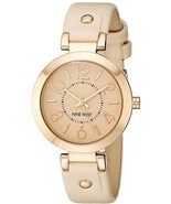Nine West Women's NW/1712PKRG Rose Gold-Tone Case Blush Pink Strap Watch - $129.30 CAD