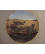 TAKING A BREATHER collector plate EMMETT KAYE Farming the Heartland HORS... - $14.99