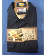 Mens NWT Navy Blue Long Sleeve Work Shirt Size 17x17 1/2 - $12.95