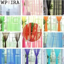 Modern Pure Solid Tulle Curtains for Shading Kitchen Hotel Balcony Livin... - $24.04