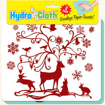 New Paper Towel Alternative Christmas Theme Reusable Washable Hydrocloth Gift