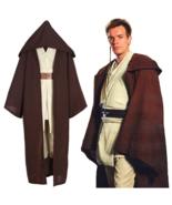 Halloween Christmas Cosplay Star Wars Jedi Obi-wan Costume Black or Brow... - $50.73+