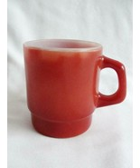 Vintage Fire King Brown Stackable D Handle Coffee Cup - $15.47