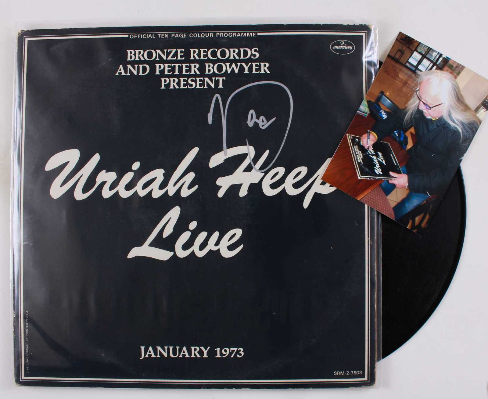 "Primary image for Mick Box Signed Autographed ""Uriah Heep"" Record Album w/ Proof Photo"