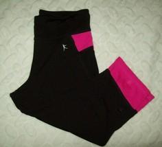 Danskin Now Girls Capri Size L 10 12 Black Pink Athletic Dance Exercise ... - $17.81