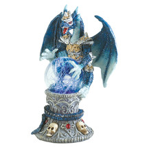 Blue Dragon Figurine, Collectible Dragon Figurines, Small Color-change F... - $23.13