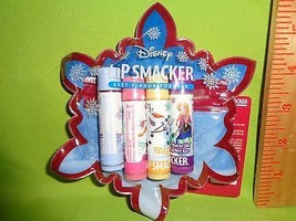 LIP SMACKER 4pc lip Balm gloss with collectible Zipper Pouch Disney Frozen Olaf - $8.90