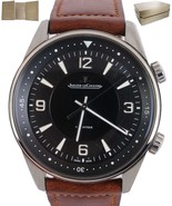 MINT JLC Jaeger LeCoultre Polaris Automatic Black Dial Watch Q9008471 84... - $5,293.25
