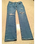 Moussy Vintage Distressed With Rips Blue Jeans Button Fly (31) - $163.63
