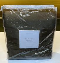 Restoration Hardware Thai Silk Solid Drape French Pleat 70 x 84 Chocolate $1,185 - $399.99