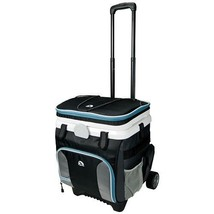 Rolling Cooler On Wheels W Handle Pull 36 Can Insulated Ice Chest BBQ Pa... - $79.15