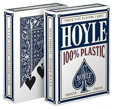 1 Deck Hoyle 100% Plastic Standard Poker Playing Cards Blue Brand New Deck - $6.59