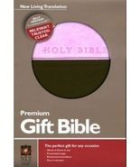 "NLT ""NEW LIVING TRANSLATION"" PREMIUM GIFT BIBLE LEATHER LIKE PINK & BROWN - $16.99"